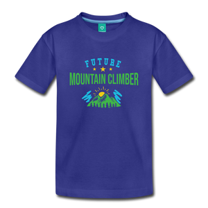 Toddler Future Mountain Climber T-Shirt - royal blue