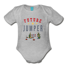 Load image into Gallery viewer, Future Jumper Baby Bodysuit - heather gray