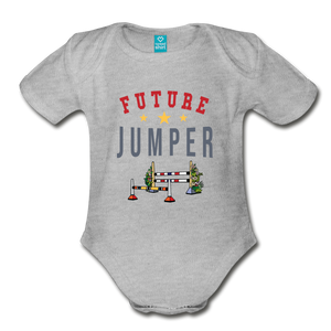 Future Jumper Baby Bodysuit - heather gray