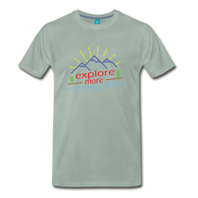 Load image into Gallery viewer, Men's Colored Explore More T-Shirt - steel green