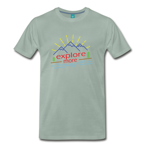 Men's Colored Explore More T-Shirt - steel green