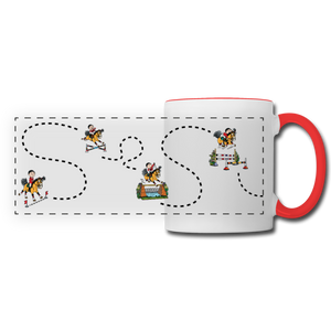 Horse Jumping Course Mug - white/red