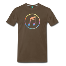 Load image into Gallery viewer, Men's Colored Music Note T-Shirt - noble brown
