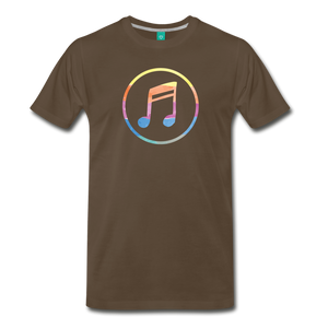 Men's Colored Music Note T-Shirt - noble brown
