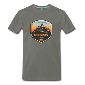 Men's Hiking T-Shirt - asphalt
