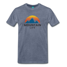 Load image into Gallery viewer, Mountain Life Shirt - heather blue