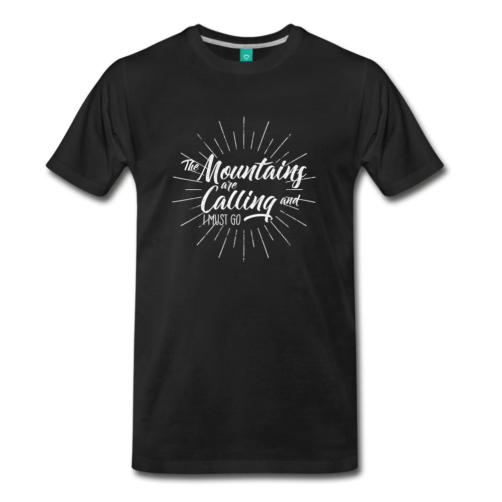 Men's Mountain Calling T-Shirt (white) - black