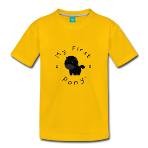 Toddler My First Pony T-Shirt (black) - sun yellow
