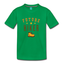 Load image into Gallery viewer, Toddler Future Hiker T-Shirt - kelly green