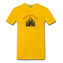 Load image into Gallery viewer, Men's Keep Calm, Camp On - sun yellow