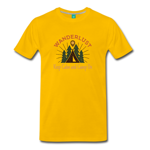 Men's Keep Calm, Camp On - sun yellow