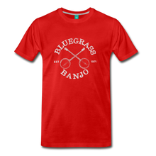 Load image into Gallery viewer, Men's Bluegrass Banjo T-Shirt - red