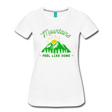 Load image into Gallery viewer, Women's Mountains Feel Like Home T-Shirt - white