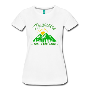 Women's Mountains Feel Like Home T-Shirt - white
