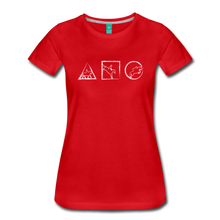Load image into Gallery viewer, Women's Horse Symbols T-Shirt - red