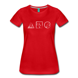 Women's Horse Symbols T-Shirt - red