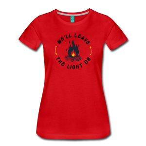 Women's We'll Leave the Light On T-Shirt - red
