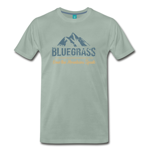 Men's Bluegrass Mountains Speak T-Shirt - steel green