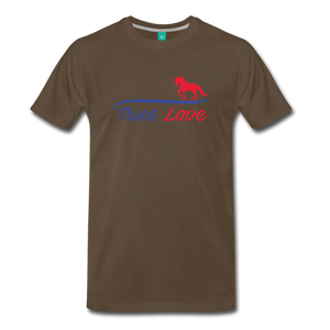 Men's True Love T-Shirt - noble brown