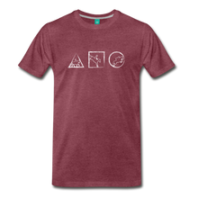 Load image into Gallery viewer, Men's Horse Symbols T-Shirt - heather burgundy