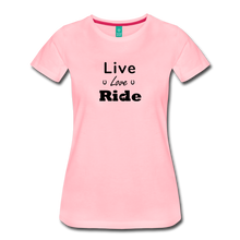 Load image into Gallery viewer, Women's Live Lover Ride T-Shirt - pink