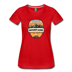 Women's Mountain's Calling T-Shirt - red