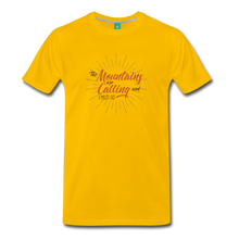 Load image into Gallery viewer, Men's Mountain Calling T-Shirt - sun yellow