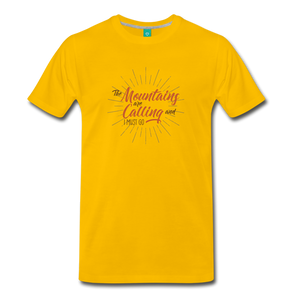Men's Mountain Calling T-Shirt - sun yellow