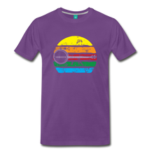 Load image into Gallery viewer, Men's Faded Banjo Rainbow T-Shirt - purple