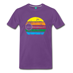 Men's Faded Banjo Rainbow T-Shirt - purple