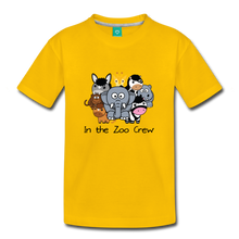 Load image into Gallery viewer, Kids' In the Zoo Crew T-Shirt - sun yellow