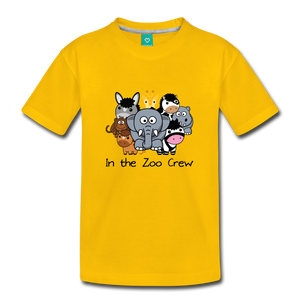 Kids' In the Zoo Crew T-Shirt - sun yellow
