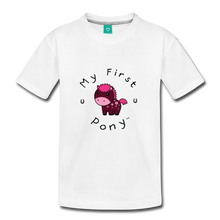 Load image into Gallery viewer, Kids' My First Pony T-Shirt (magenta) - white