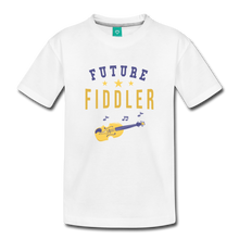 Load image into Gallery viewer, Toddler Future Fiddler T-Shirt - white