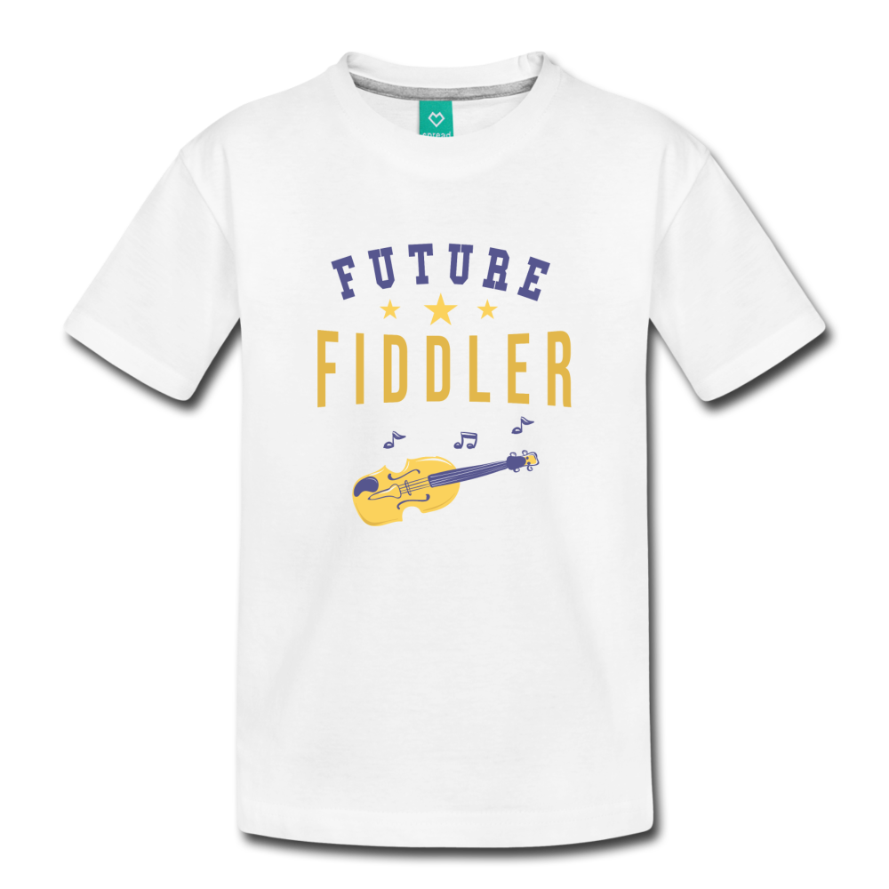 Toddler Future Fiddler T-Shirt - white