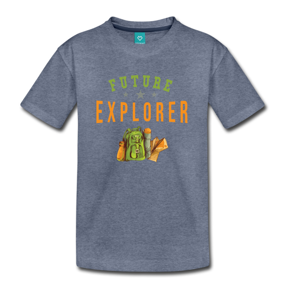 Kids' Future Explorer T-Shirt - heather blue