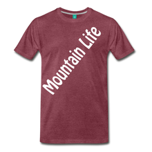 Load image into Gallery viewer, Men's Diagonal Mountain Life T-Shirt - heather burgundy