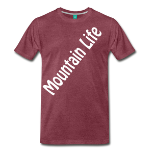 Men's Diagonal Mountain Life T-Shirt - heather burgundy