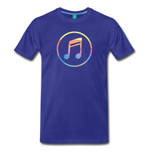 Load image into Gallery viewer, Men's Colored Music Note T-Shirt - royal blue