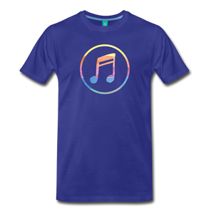 Men's Colored Music Note T-Shirt - royal blue