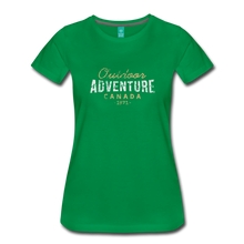 Load image into Gallery viewer, Women's Outdoor Adventure Canada T-Shirt - kelly green