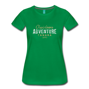 Women's Outdoor Adventure Canada T-Shirt - kelly green