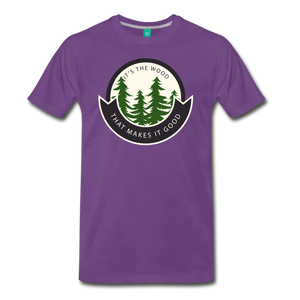 Men's Its the Wood T-Shirt - purple