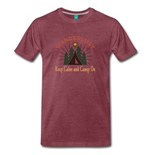 Load image into Gallery viewer, Men's Keep Calm, Camp On - heather burgundy