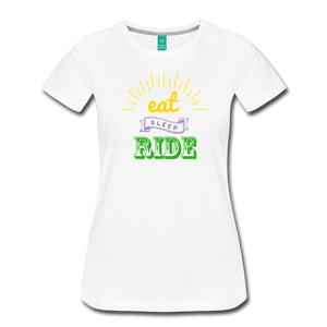 Women's Eat Sleep Ride T-Shirt - white