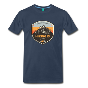 Men's Hiking T-Shirt - navy