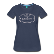 Load image into Gallery viewer, Women's The Bluegrass Cafe (music is life) T-Shirt - navy