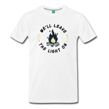 Load image into Gallery viewer, Men's We'll Leave the Light On T-Shirt - white