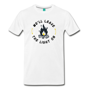 Men's We'll Leave the Light On T-Shirt - white