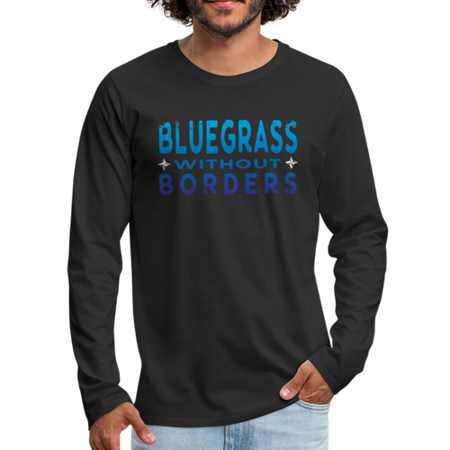 Men's Bluegrass without Borders Long Sleeve T-Shirt - black